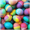 A collection of brightly colored Easter eggs.